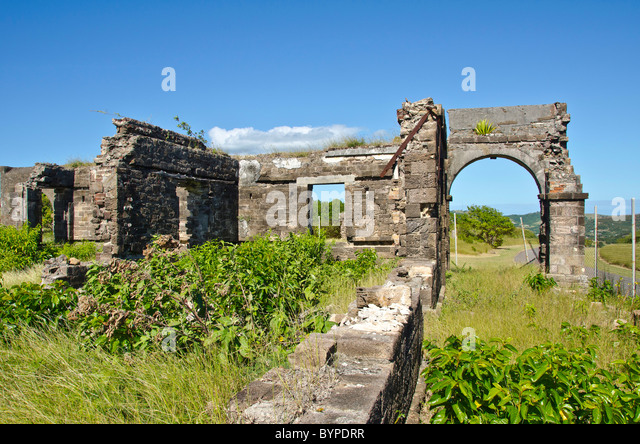 Antigua Blockhouse Fort ruins tourist attraction and shore excursion - Stock Image