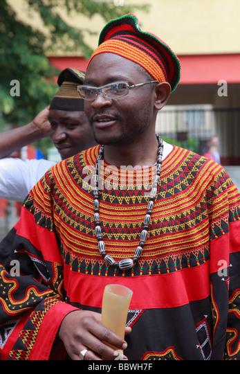 Germany Berlin Carnival of Cultures african men - Stock-Bilder
