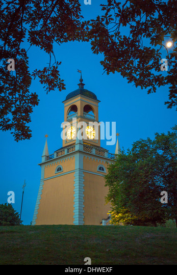 The Klockstapeln clocktower in Karlskrona, Sweden - Stock Image