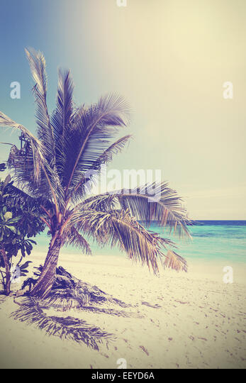 Vintage filtered picture of tropical beach. Koh Lipe in Thailand. - Stock-Bilder