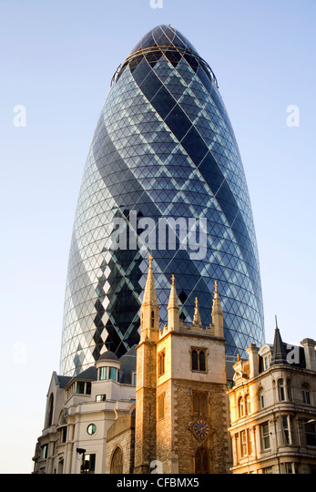 London - Swiss re tower - Stock Image