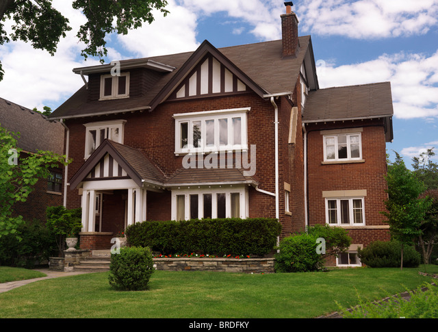 Beautiful large house in Toronto, Ontario, Canada summertime scenic. - Stock Image