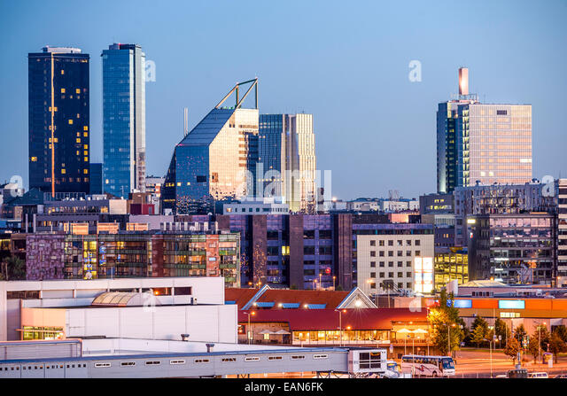 Tallinn, Estonia new city skyline. - Stock Image