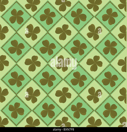 Background with clover - Stock Image