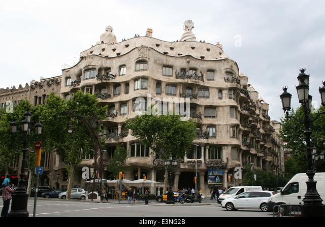 Antoni Gaudi - Casa Mila - Stock-Bilder