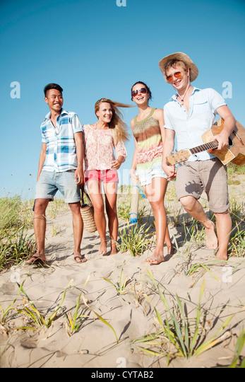 young group having fun outdoors - Stock-Bilder