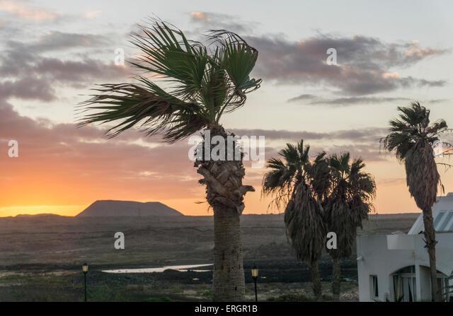 Sunset in Corralejo, Fuertenventura, Spain - Stock Image