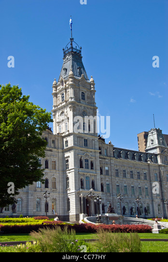 Parliament Building or Hôtel du Parlement, the most important historical site in Québec City, Canada - Stock Image