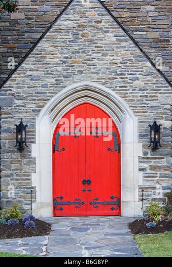 Red Doors Stone : Red doors church stock photos