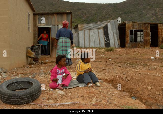 Family life in the township - Stock-Bilder