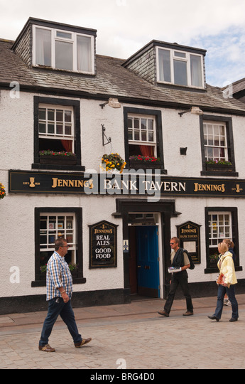 The Bank Tavern pub at Keswick , Cumbria , England , Great Britain , Uk - Stock Image