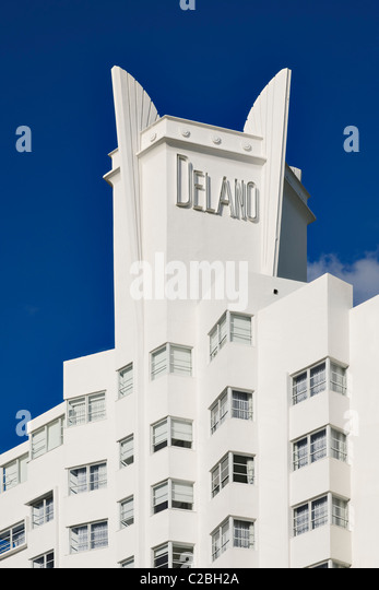 Delano Hotel, South Beach, Miami - Stock Image