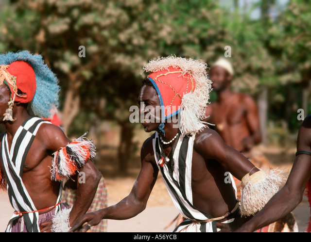 Traditional Dancers, The Gambia, West Africa - Stock-Bilder
