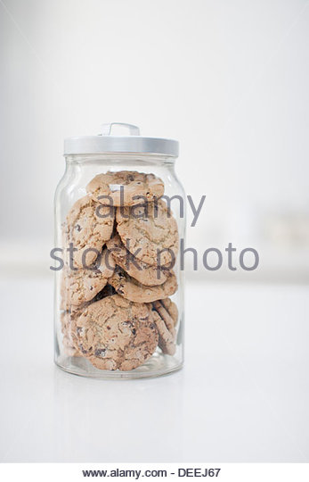 Jar of cookies - Stock Image