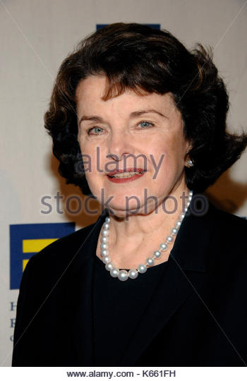 Senator Dianne Feinstein. Celebrities attend the Human Rights Campaign Los Angeles Gala and Hero Awards 2009. - Stock Image