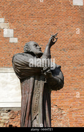 statue, tuscany, fortress, pisa, physicist, tower, city, town, spare time, free - Stock Image