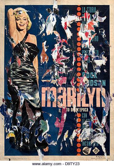 Marilyn il mito di una epoca - Marilyn the myth of a vintage 1963 Mimmo Rotella 1918  Italy Italian - Stock Image