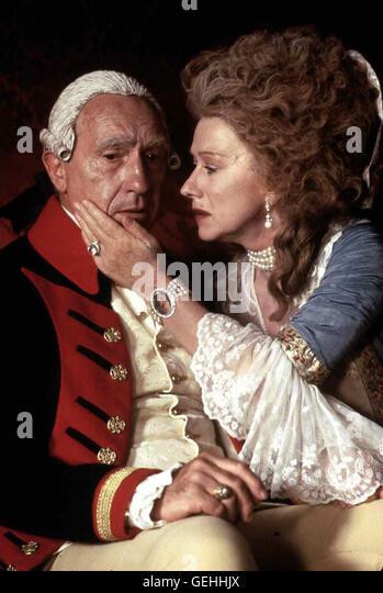 Nigel Hawthorne, Helen Mirren   1788: Der unbeliebte Koenig George III. (Nigel Hawthorne) hat gerade einen Mordanschlag - Stock Image