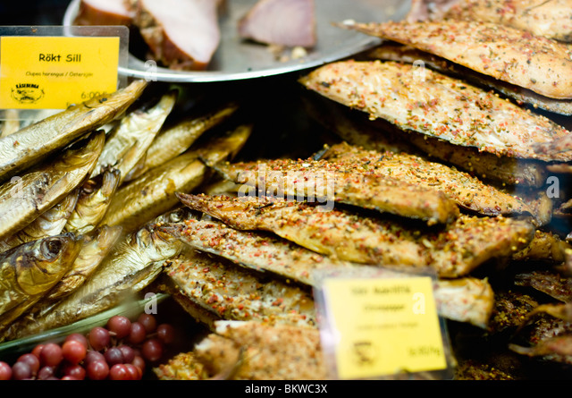 Fish in food store - Stock-Bilder