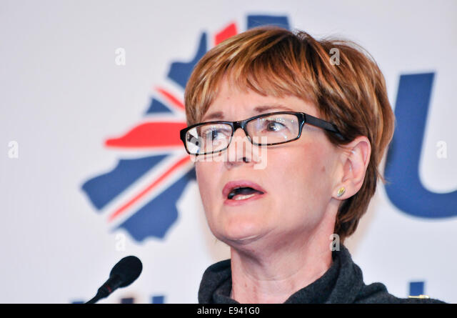 Belfast, Northern Ireland. 18th Oct, 2014. Mairead McGuinness MEP speaking at the Ulster Unionist Conference Credit: - Stock Image