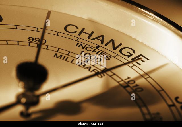 Barometer indicating change - Stock-Bilder