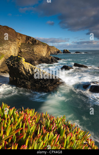 Lizard Point (the most southerly point in mainland Britain), Cornwall, England - Stock-Bilder