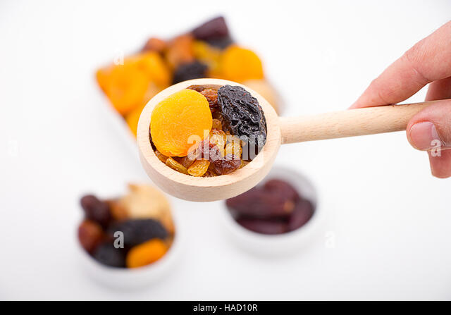 Collection of dried fruits - Stock Image