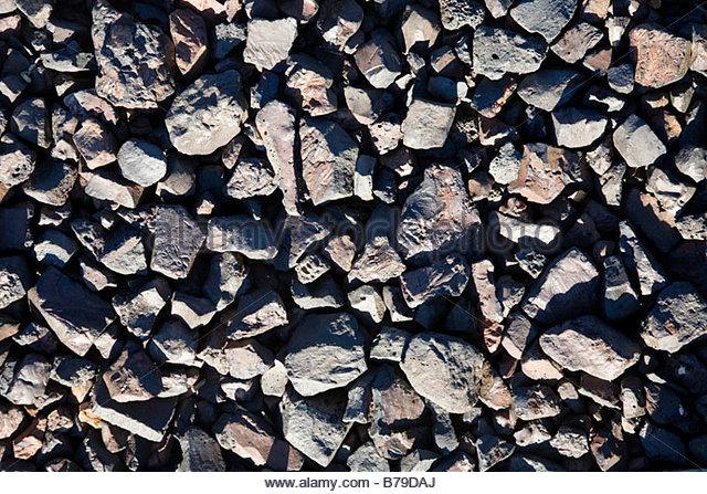 Texture slag railroad ballast - Stock Image
