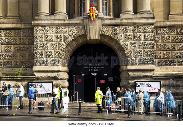 Exhibition Displays Bristol : Banksy exhibition stock photos