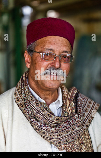 Portrait of a restaurant owner in Djerba, Tunisia - Stock Image