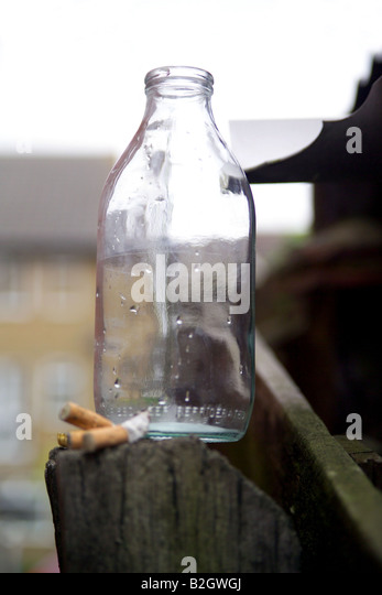 Milk Bottle - Stock Image