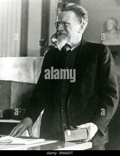 MIKHAIL KALININ (1975-1946) Bolshevik revolutionary and later member of the Soviet Politburo - Stock Image