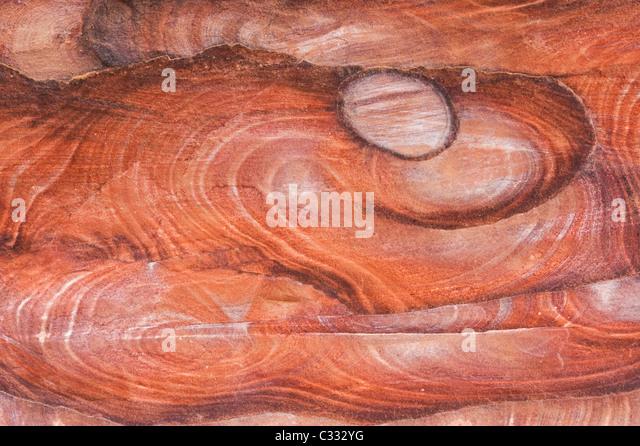 Sandstone Patterns, Petra, Nabataean Stone City, Jordan WORLD HERITAGE SITE - Stock Image