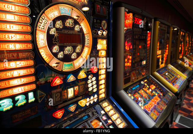 gambling machines on a ferry - Stock Image