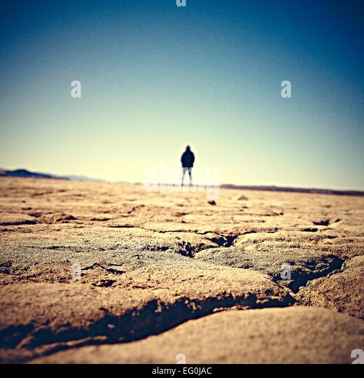 USA, California, Adelanto, El Mirage Dry Lake - Stock Image