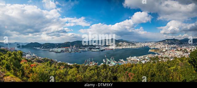 Nagasaki, Japan panorama. - Stock Image