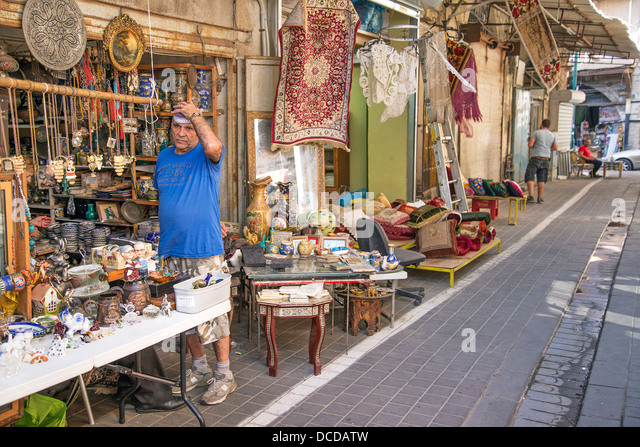 flea market shop in tel aviv old town israel - Stock Image