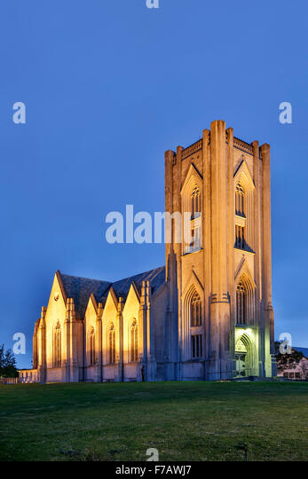 Roman Catholic Cathedral of Christ the King, Reykjavik, Iceland - Stock-Bilder