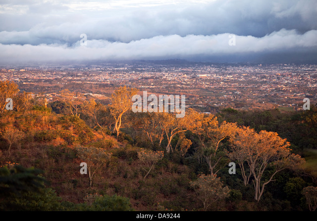 Overlooking the San Jose Valley, Costa Rica - Stock Image
