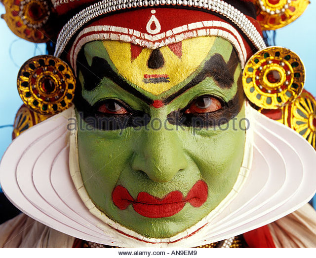 VEERYAM    ONE OF THE NINE BASIC FACIAL EXPRESSIONS IN KATHAKALI - Stock-Bilder