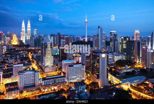 Kuala Lumpur Skyline, Malaysia - Stock Image