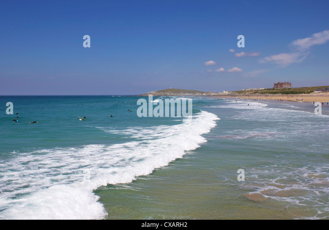 Fistral Beach, Newquay, Cornwall, England, United Kingdom, Europe - Stock Image
