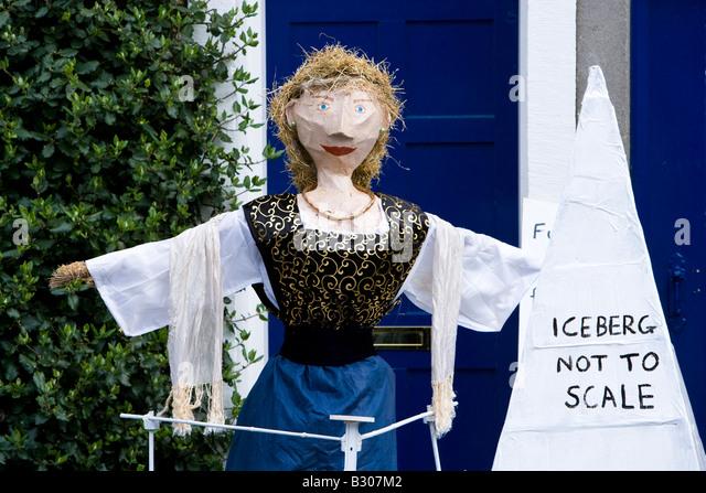titanic scarecrow in village festival - Stock-Bilder