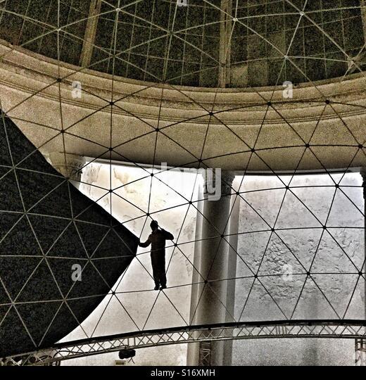 Dome Cinema under construction - Stock-Bilder
