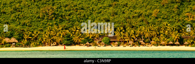 Secluded Island resort among the Yasawa Islands, Fiji, South Pacific - Stock-Bilder