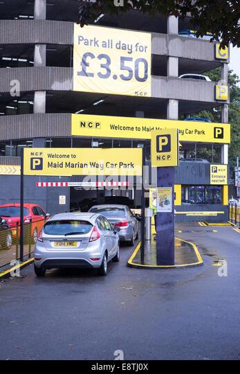 Yellow Car Park Queensgate Peterborough