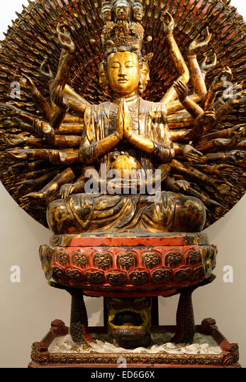 Thousand-armed and Thousand-eyed Avalokiteshvara, Vietnam Fine Arts Museum, Hanoi, Vietnam - Stock Image