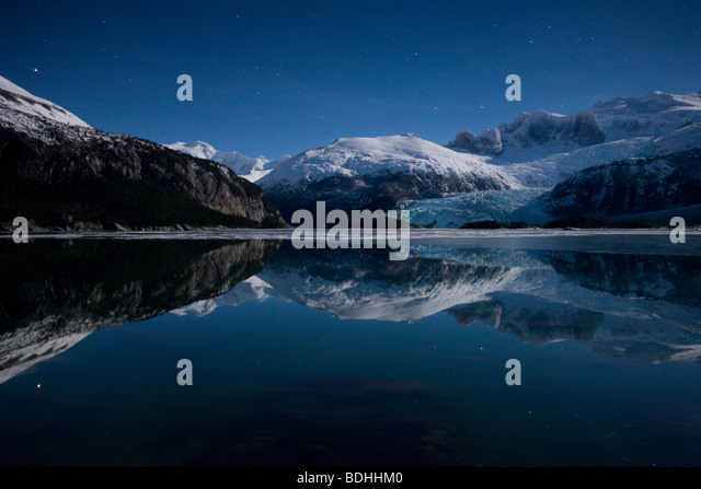 Winter, Seno Pia, East Arm, Tierra del Fuego, Chile - Stock Image