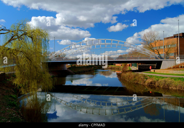 UK,Somerset,Taunton,New Road Bridge over River Tone - Stock Image