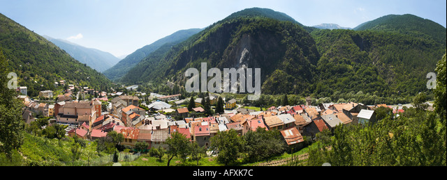 Isola village in the Alpes Maritimes, South of France - Stock Image